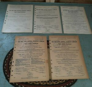 5 RARE Antique 1920s-30s Guides New York Central Railroad Freight Tariff Books