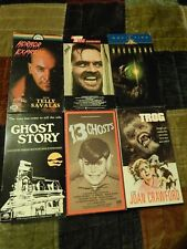 Trog + Horror Express + Breeders + The Shining + 13 Ghosts + Ghost Story VHS LOT