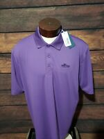 Cutter and Buck Mens XL Extra Large Purple Short Sleeve Golf Polo Shirt New