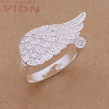 925 STERLING SILVER PLATED ADJUSTABLE THUMB/FINGER  RING FOR WOMEN ANGEL WING