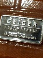 ➡➡20 g Silver Bar Geiger Edelmetalle Vintage Rectangle Series .999 Silver