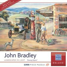 NEW Blue Opal Jigsaw Puzzles Deluxe 1000 Pc Puzzle Running Repairs John Bradley
