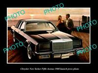OLD POSTCARD SIZE PHOTO OF CHRYSLER NEW YORKER FIFTH AVENUE 1980 PRESS PHOTO
