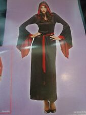 NWT New Women's Halloween Costume Midnight Spell Wizard Red Black Robe SZ Small