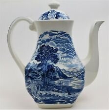 Royal Warwick Lochs Of Scotland Blue Coffee Pot Loch Lomond 641192