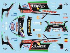 DECALS 1/43 CITROËN DS3 WRC - #15 - GROOTEN - RALLYE DU CONDROZ 2014 - D43379