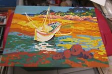 Guy Charon French Painter Artist Signed Numbered Art Print 21x27 Sailboat Colors