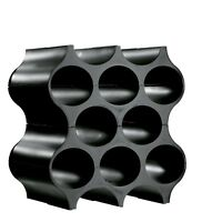 Koziol SET-UP Bottle Rack/Wine Rack, One set of 4 Pieces, Modular, Black
