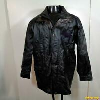 JUNCTION WEST Soft LEATHER JACKET Mens Size XL Black insulated