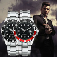 Men's Waterproof Stainless Steel Watch Sport Quartz Analog Digital Wrist Watches