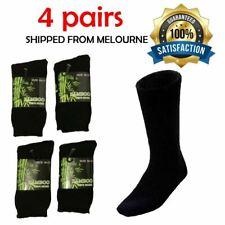 6prs Men Mens Bamboo Fibre Cushion Boot Thick Work Walking Socks Heavy Duty Navy
