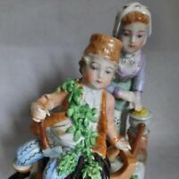 Antique 1920s Statue Porcelain Winter Signed Carl Thieme Potschappel Figurine