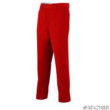 Mens Red Velvet Vintage 3 Piece Suit Blazer Waistcoat Trouser Separately Waist 34 Trouser-red