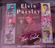 Elvis Presley 25th Anniversary Republique de Guinee Miniature Stamp Sheet EPE