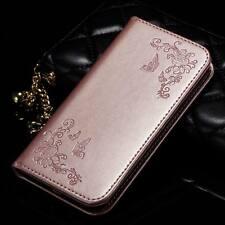 Card Holder Leather Flip Wallet Case Cover Stand Floral For LG G4 G5 K7 K8 V10