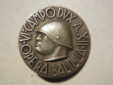 Italy fascist badge Opera Balilla 6 campo dux Mussolini