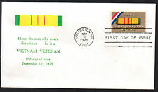 1802 -- Honoring Vietnam Veterans -- First Day cover, Virgil Crow cachet