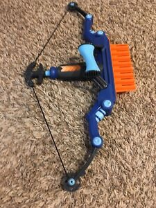 Nerf Blue Bow Rapid Fires Darts FAST SHIPPING
