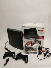 Sony PlayStation 3 Slim 7 Game Bundle Tested 160GB CECH2501A WITH CONTROLLERS