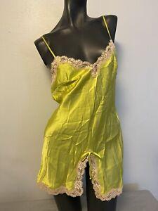La Perla Yellow Chamise Size Medium 8 Italy 2
