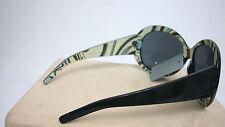 WOMEN SUNGLASSES Funky Black Striped Large Frame BRAND NEW W/TAG +Nylon Protect