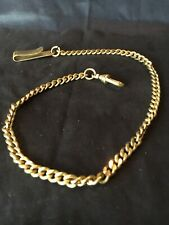 mint condition 14 inches pocket watch chain, gold-plated,