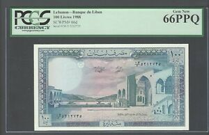 Lebanon 100 Lira 1988 P66d Uncirculated Graded 66