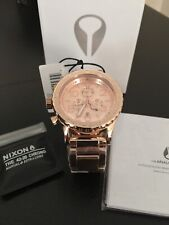 New Authentic Nixon Watch 42-20 Chrono All Rose Gold A037-897 A037897 42mm men
