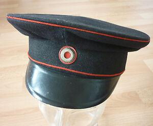 Schirmmütze, Uniformmütze, Feuerwehr Lübeck, Kaiserreich, 1.WK
