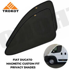 Magnetic custom fit privacy sun shades Fiat Ducato Motorhome Campervan FRONT!