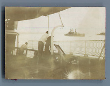 Djibouti, Escadre Russe dans le Port de Djibouti  Vintage citrate print.  Tira