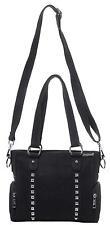 Sourpuss Punk Goth Gothic Mini Leda Studded Canvas Purse Tote Handbag Black
