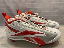 Reebok NFL Cleats Shoe Men's Size 19 NEW White Red Silver RB703KTS