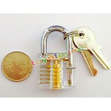 Pick Cutaway Visable Padlock Lock For Locksmith Practice Training Skill Set
