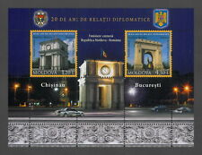 Moldova 2011 20 Years of Diplomatic Relations joint issue with Romania MNH Block