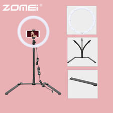 "Zomei 10"" LED Ring Light Dimmable Lighting with Metal Stand for Photography UK"