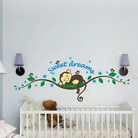 Sweet Dreams Cartoon Wall Sticker Baby infant Child Bedroom Nursery Decor Decal