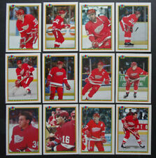 1990-91 Bowman Detroit Red Wings Team Set of 12 Hockey Cards