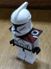 Lego Star Wars Custom Plastic Pauldron with Dark Red Markings and Republic Logo