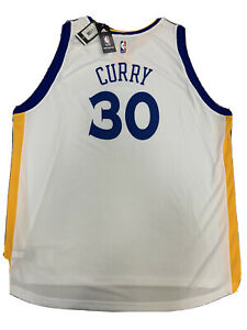 New Golden State Warriors Stephen Curry 4X Rev White Adidas Swingman Jersey NWT