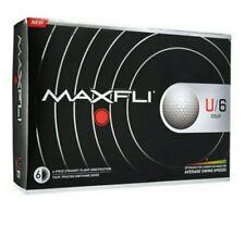 New Maxfli U/6 Tour Golf balls 1 Dozen 12 Golf balls White No Logos