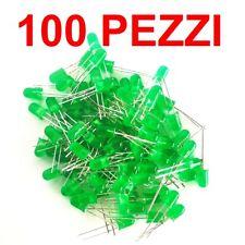 100 Pezzi Diodo LED VERDE diffuso 5mm arduino