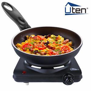 UTEN Electric Hot Plate Portable Kitchen Cooker Burner 1000W Stove Utensils