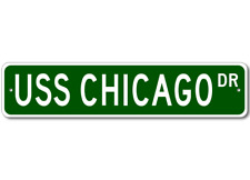USS CHICAGO CG 11 Street Sign - Navy Ship Gift Sailor