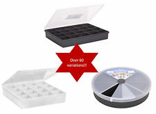 Organiser Boxes for Fishing DIY Stationery Loom Bands Crafts - WHAM Plastics Clear 29x19cm 13 Divisions