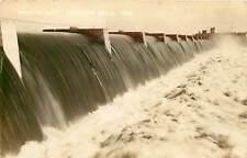 Wisconsin, WI, Chippewa Falls, Wissota Dam 1930's Real Photo Postcard
