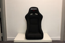 BRIDE VIOS Low Max Black Cloth Bucket Seats Pair JDM SLIDERS SIDEMOUNT INCLUDED