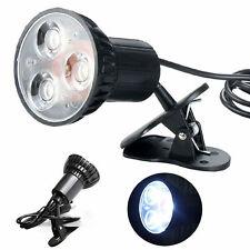 1pc Flexible Mini Super Bright 3 LED Swivel Clip-on Book Reading Light Lamp NEW