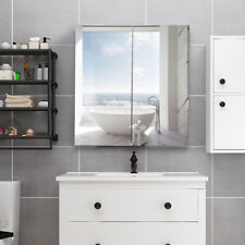 "24"" Wide Wall Mount Mirrored Bathroom Medicine Storage Cabinet 2 Mirror Door New"