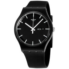 Swatch Originals Black Dial Silicone Strap Men'S Watch Suob720